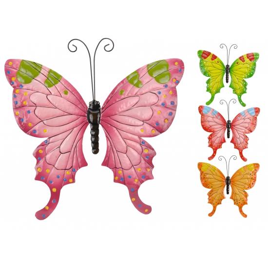 Metalen decoratie vlinder 37 cm