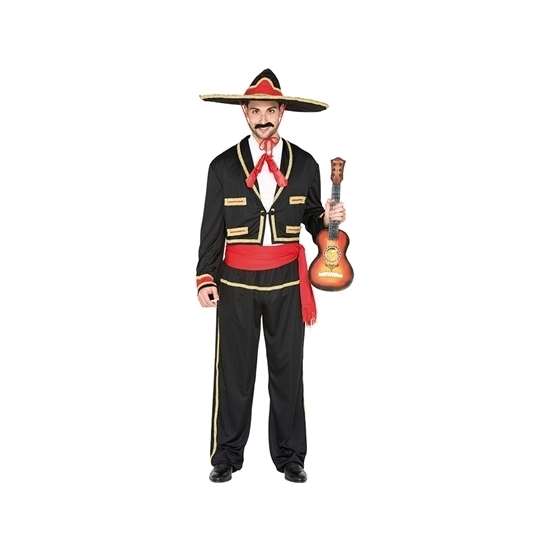 Mexicaans kostuum voor heren. dit mexico kostuum voor mannen bestaat uit het jasje met imitatie shirt, de ...