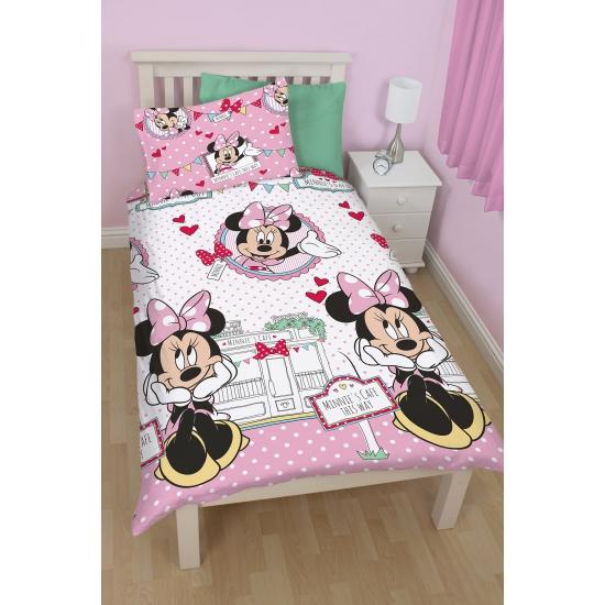 Minnie Mouse cafe dekbedovertrek meisjes 135 x 200 cm