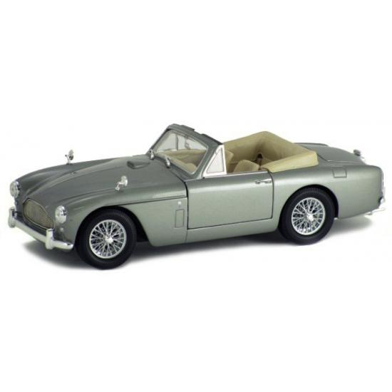 Modelauto Aston Martin DB2 cabrio zilver 1:18