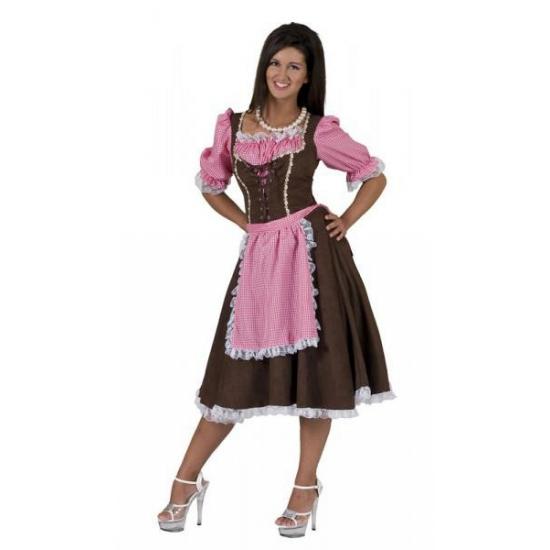 Oktoberfest Klassieke Tirolerjurk Rosa