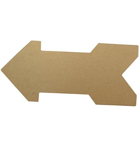 Onbedrukte pijl van papier mache