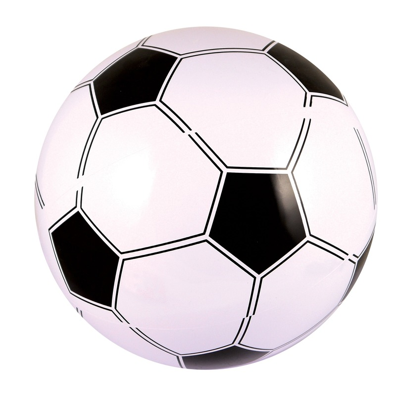 Opblaasbare voetbal 41 cm