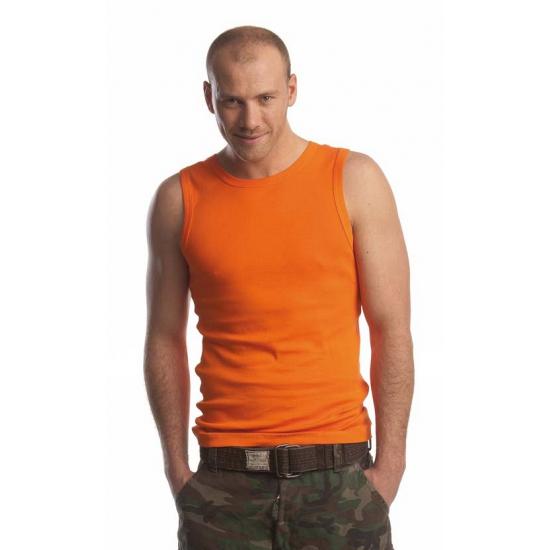 Oranje tanktop voor heren