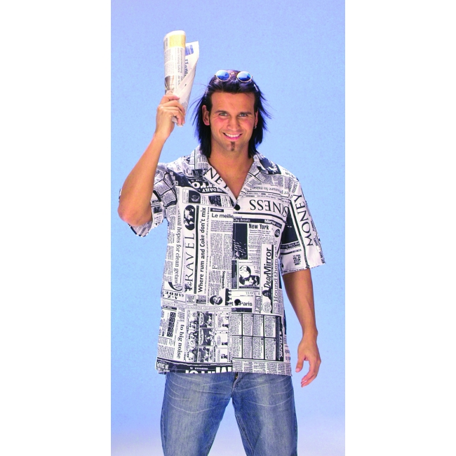 Overhemd met krant print voor heren