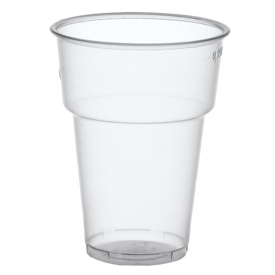 Plastic bierglazen 50 stuks