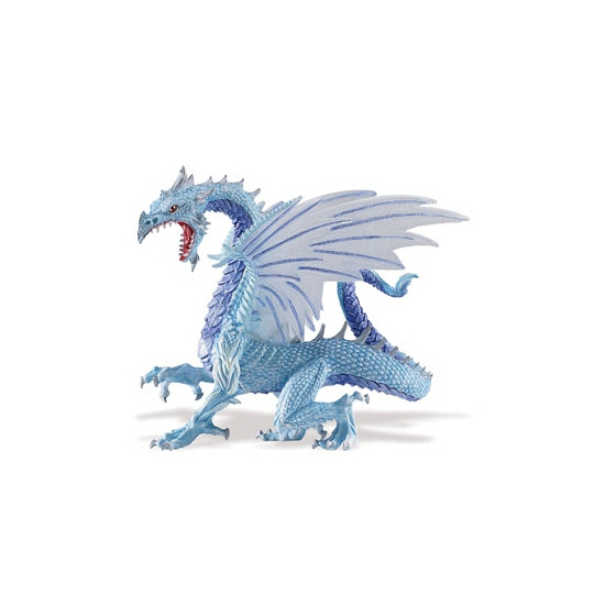 Plastic blauwe draak 15 cm