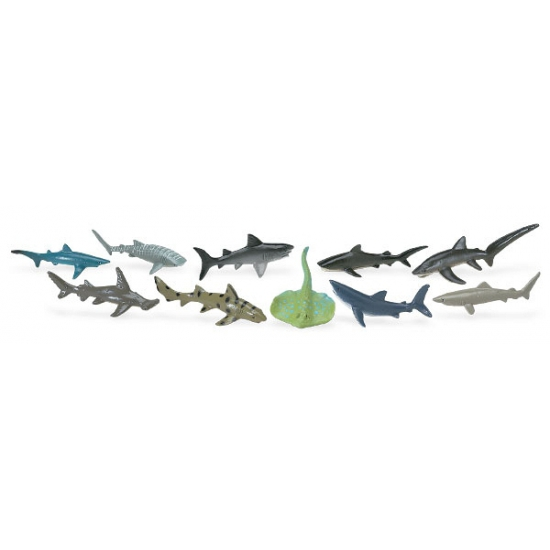 Plastic haaien 10 stuks