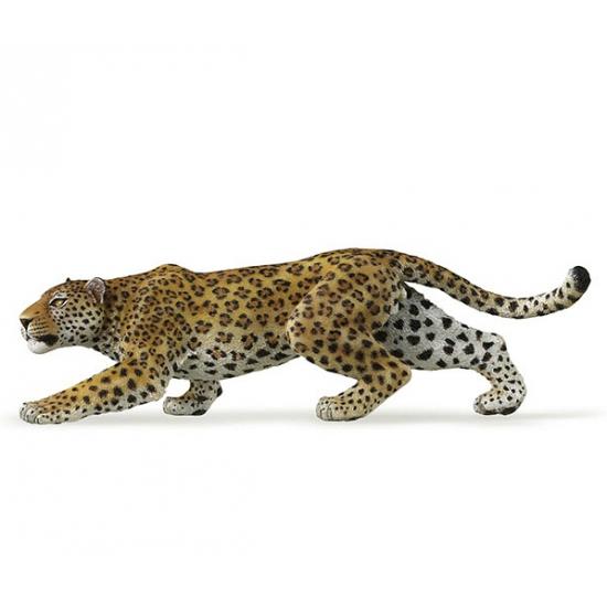 Plastic luipaard 14 cm
