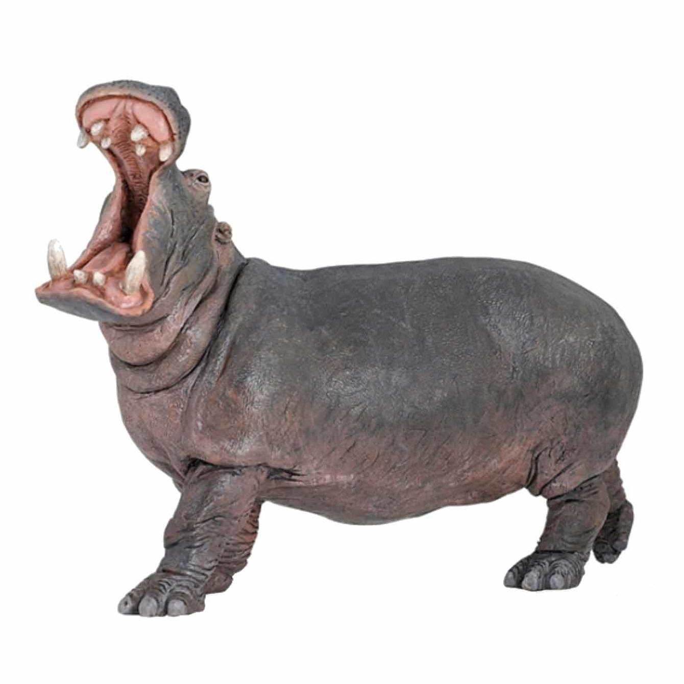 Plastic nijlpaard 15 cm