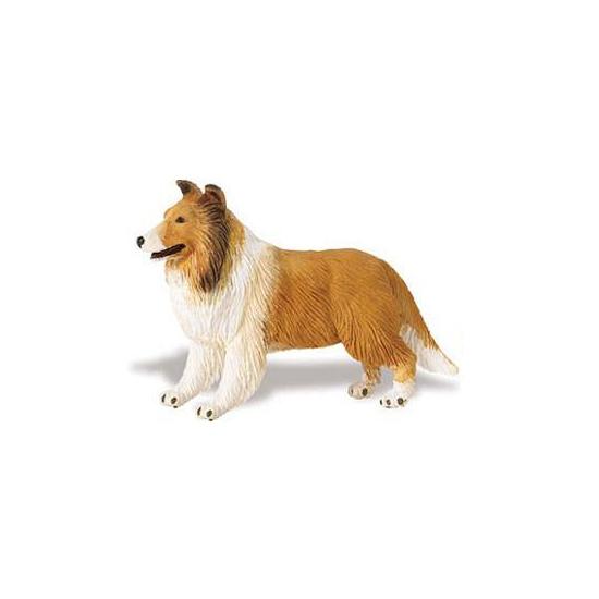 Plastic Schotse Collie hond 10 cm