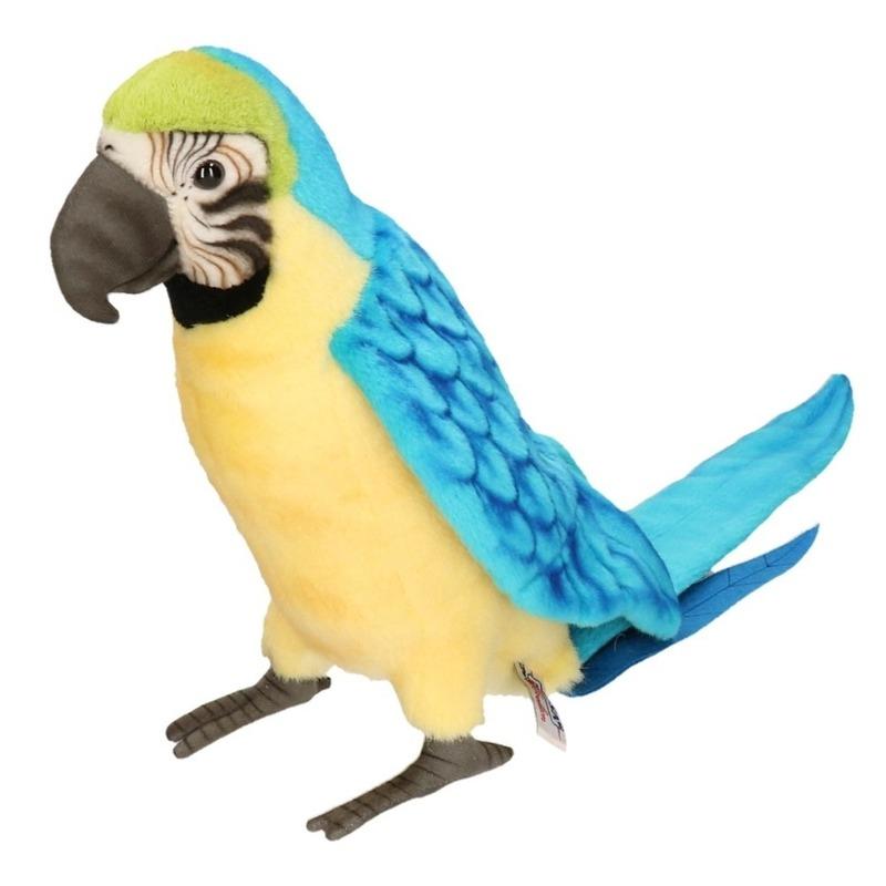 Pluche blauwe Ara papegaai knuffel 72 cm