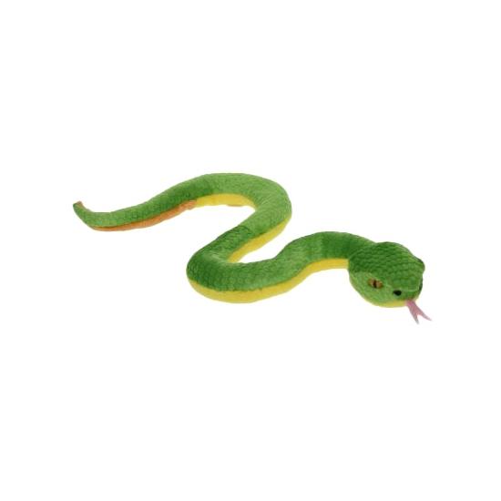 Pluche groene slang knuffel 42 cm