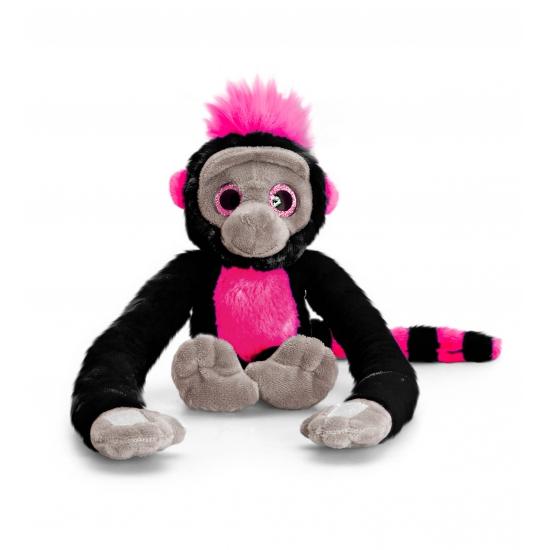 Pluche hang aap zwart 48 cm