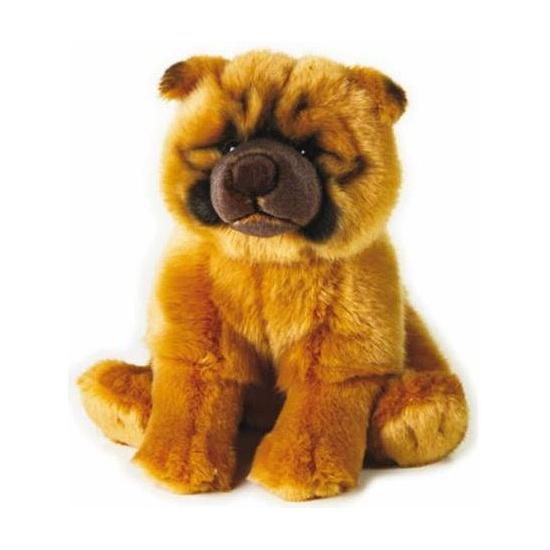 Pluche honden knuffel Chow Chow staand 25 cm