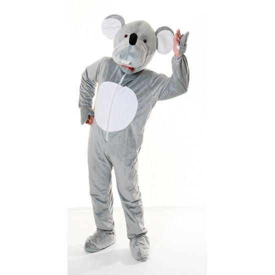 Pluche muis kostuum grijs