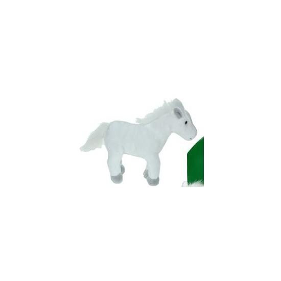 Pluche paard wit 19 cm