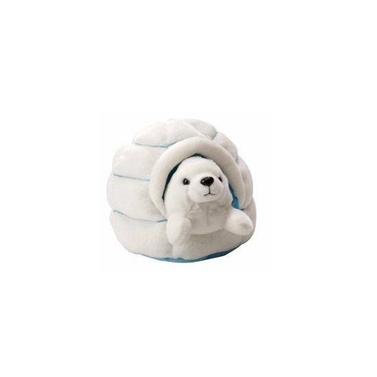 Pluche zeehond in iglo knuffel