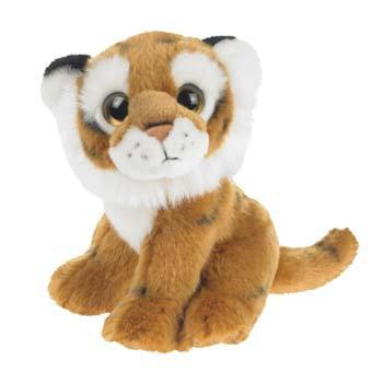 Pluche zittende tijger 18 cm