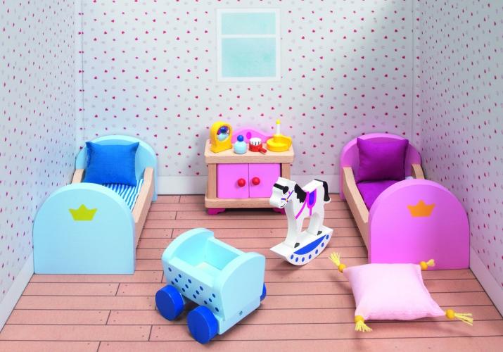 Poppenhuis slaapkamer meubels Kasteel