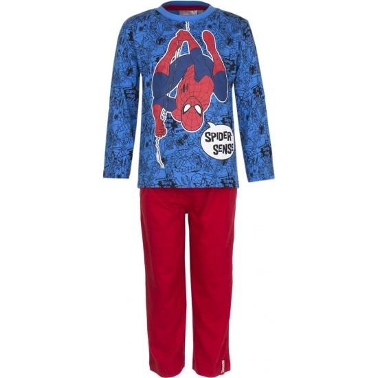 Pyjama Spiderman blauw met rood