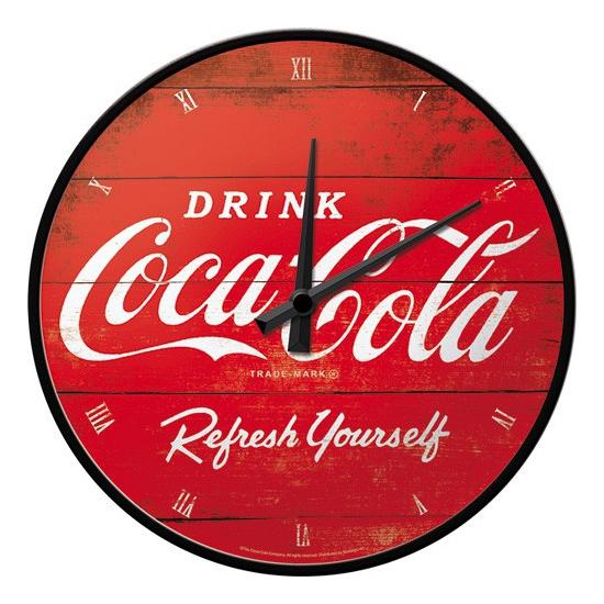Ronde wandklok Coca Cola
