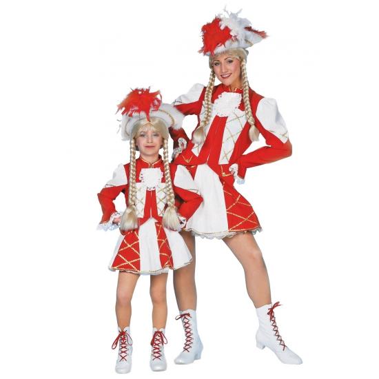 Rood Dansmarieke kostuum voor meiden