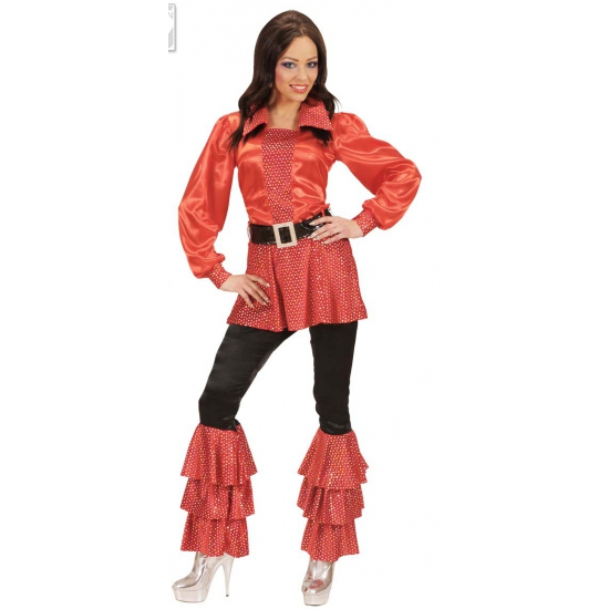 Rood lang dames shirt