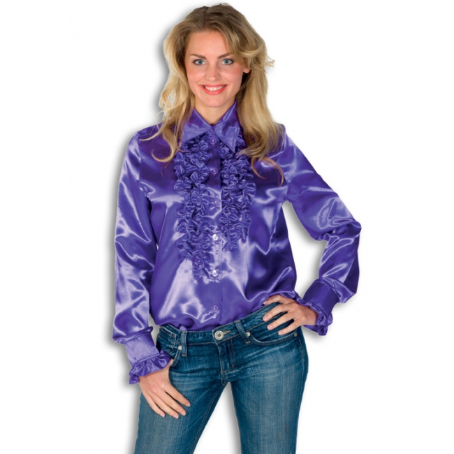 Rouches blouse paars dames