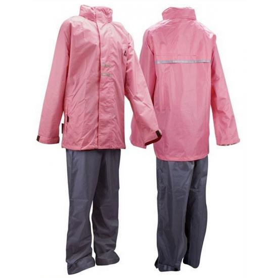 Roze met grijs regenpak voor meiden