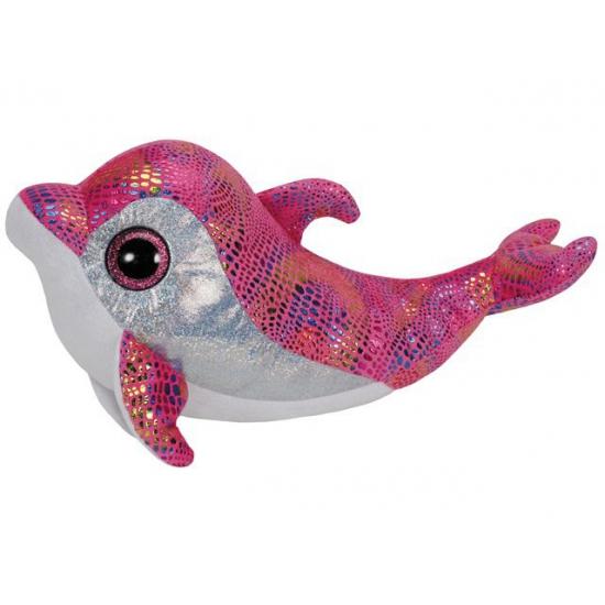 Roze Ty beanie knuffel dolfijn 24 cm