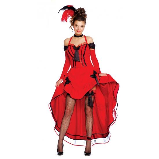 Sexy danseres kostuum rood. deze burlesque danseressen jurk is rood met zwarte accenten. inclusief mouwen.one ...