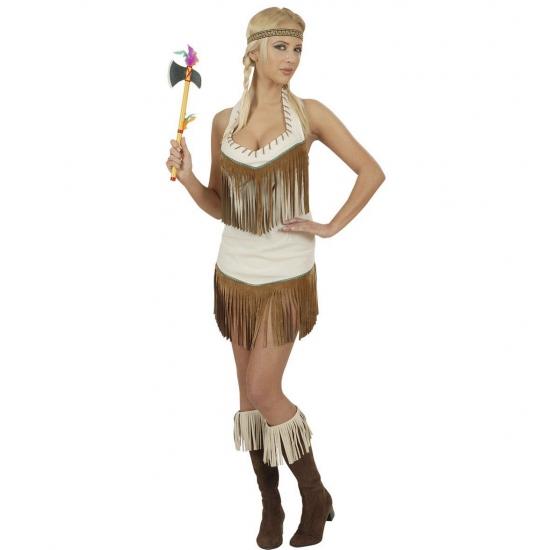 Sexy indiaan kostuum voor dames. dit leuke indianen kostuum voor dames bestaat uit een jurkje en hoofdband....