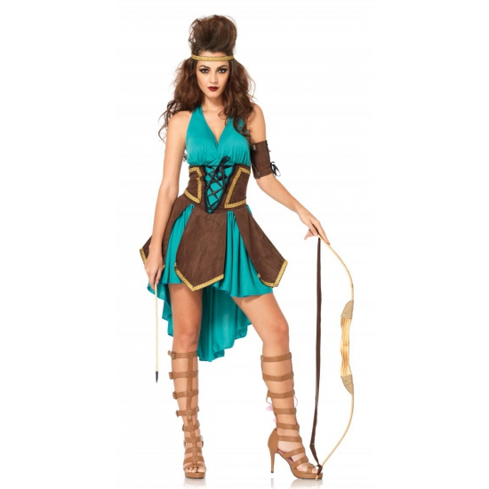 Sexy krijger dames kostuum