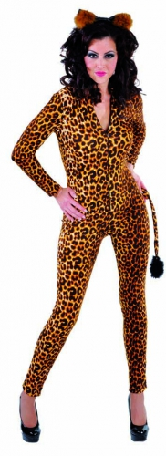 Sexy luipaard jumpsuit met staart