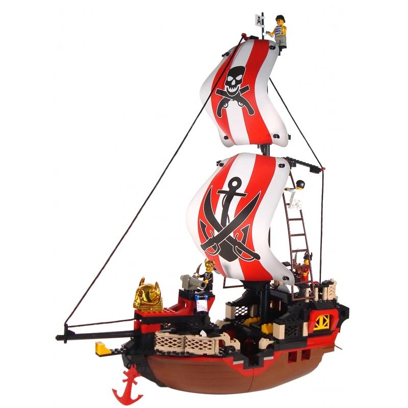 Sluban groot piratenschip bouwset