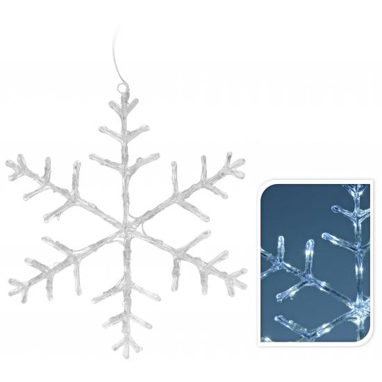 Sneeuwvlok met led verlichting 45 cm