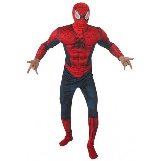 Spiderman kostuum voor volwassenen. een mooie blauw met rode jumpsuit met spiervormen. geschikt voor ...
