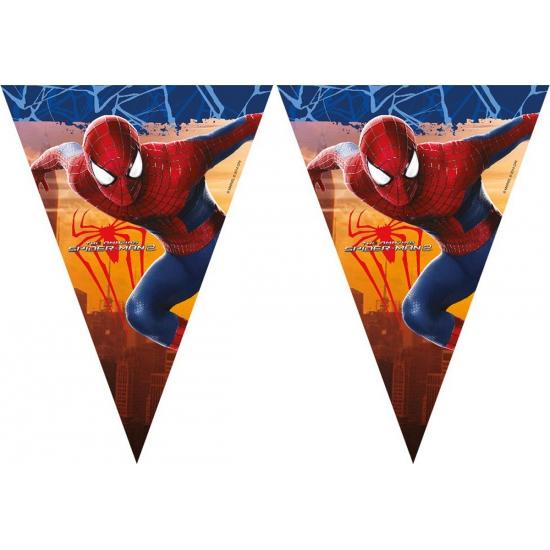 Spiderman vlaggenlijn 3 meter. deze feestelijke plastic vlaggenlijn met plaatjes van spiderman heeft een ...