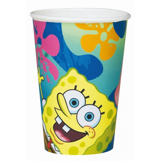 Spongebob bekers 6 stuks