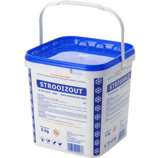Strooizout 6 kilo in emmer