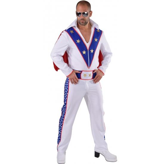 Stuntman kostuum voor heren. dit stuntman kostuum voor heren bestaat uit een blouse met cape, broek en een ...