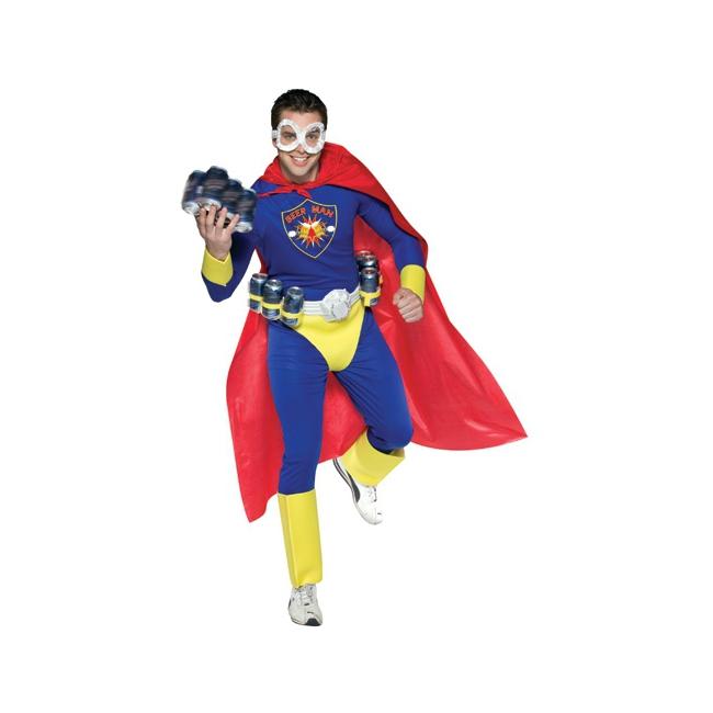 Super beer man kostuum voor volwassenen. bierman, look a like superman kostuum. dit kostuum is inclusief ...