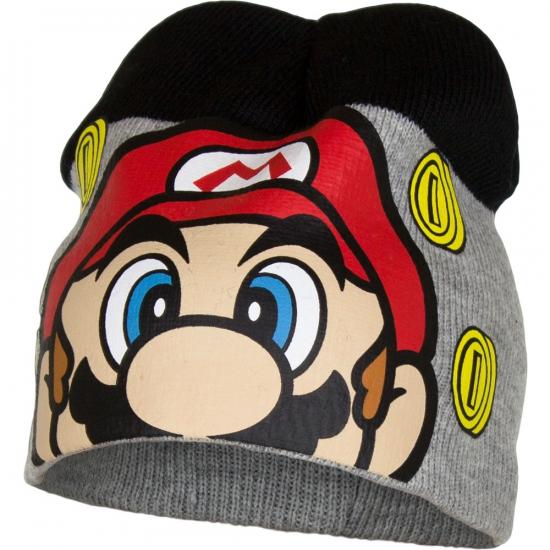 Super Mario muts grijs/zwart
