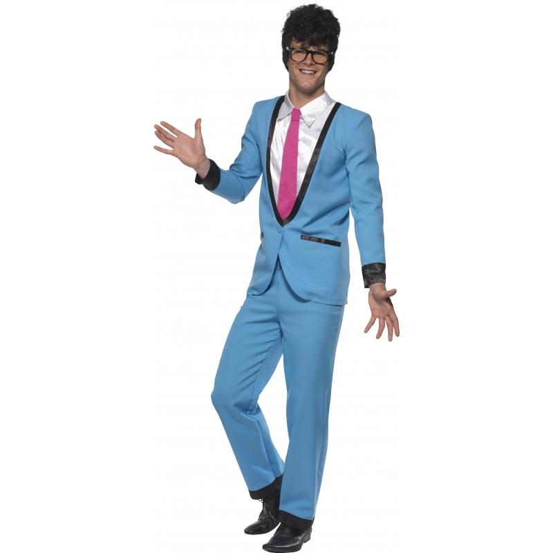 Teddy boy heren kostuum voor volwassenen. dit teddy boy kostuum bestaat uit de broek, jasje met imitatie ...