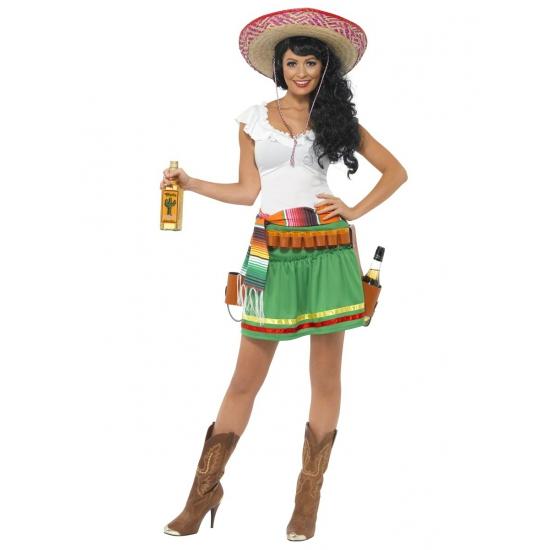 Tequila kostuum voor dames. tequila verkleed kostuum voor dames dat bestaat uit het jurkje, de riem en de ...