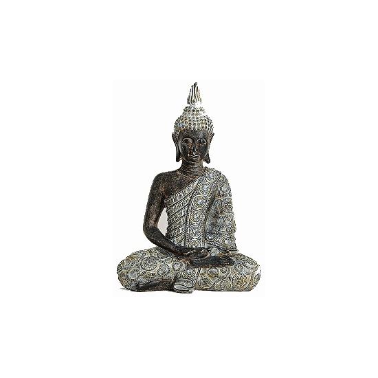 Thaise Boeddha beeldje grijs 33 cm