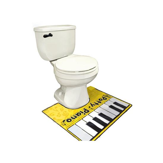 Toiletmat piano spelen