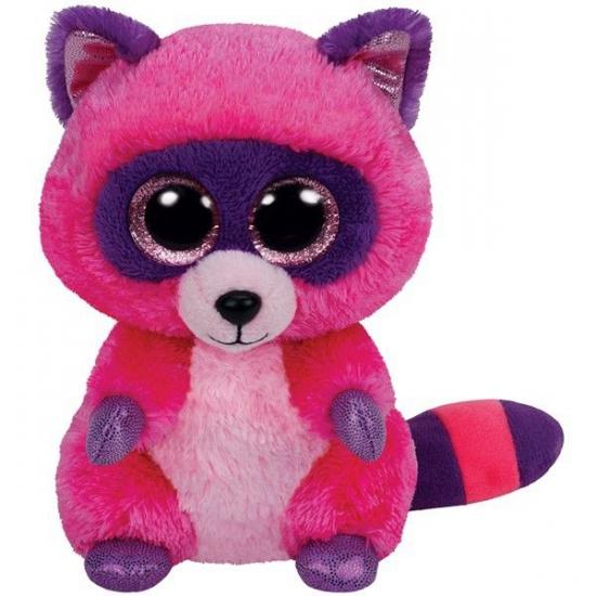 Ty Beanie knuffel roze wasbeer 15 cm (bron: Feestartikelen-winkel)