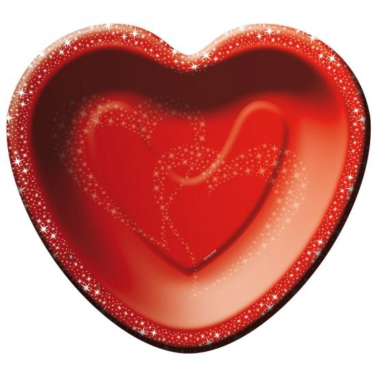 Valentijn Rode hartjes feestbordjes